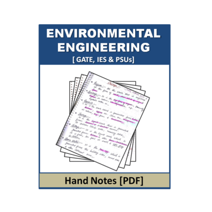 Environmental Engineering Hand Note Free Hand Note