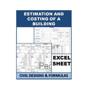 Estimation And Costing Of A Building