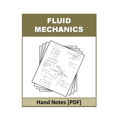 Fluid Mechanics Hand Note