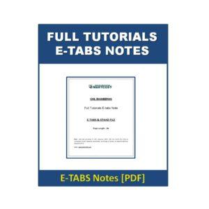 Full Tutorials E-tabs Note