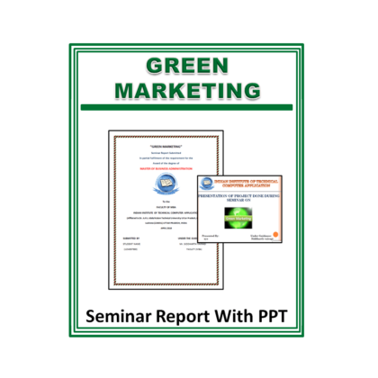 Green Marketing Seminar Report with PPT