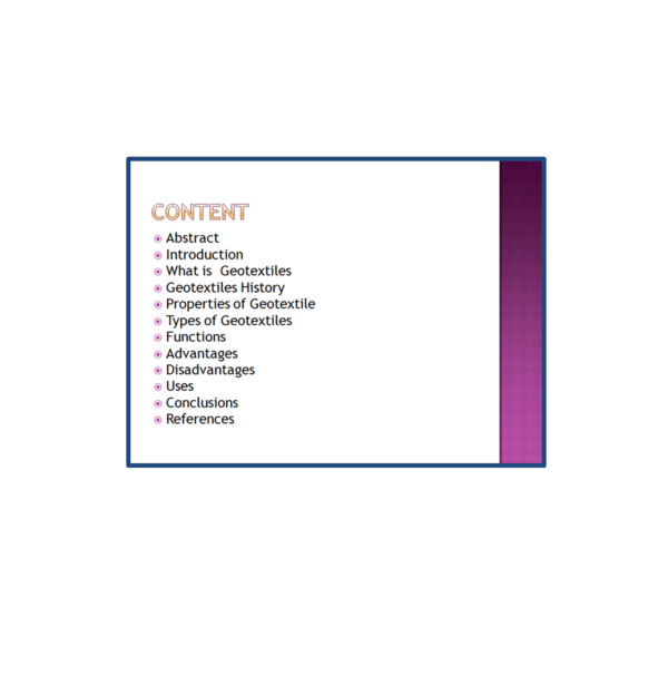 Geotextiles Content PPT