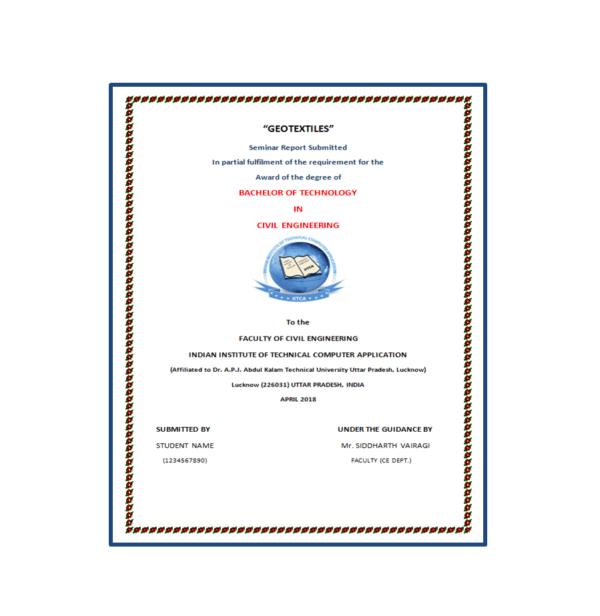 Geotextiles Seminar Report