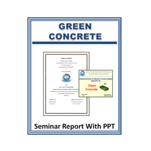 Green Concrete Seminar Report With PPT
