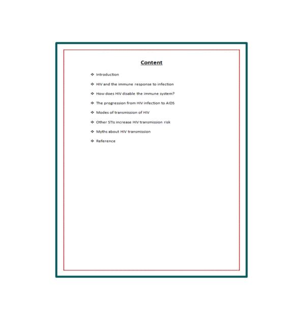 HIV-AIDS Seminar Report Content