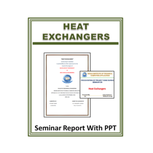 Heat Exchangers Seminar Report With PPT
