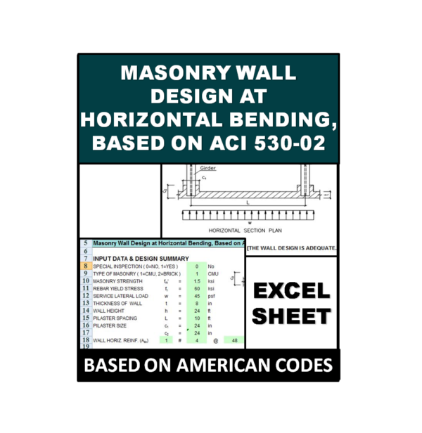 Masonry Wall Design at Horizontal Bending, Based on ACI 530-02