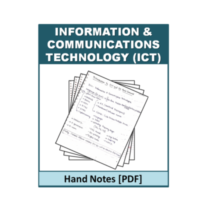 Information and communications technology (ICT) Hand Note