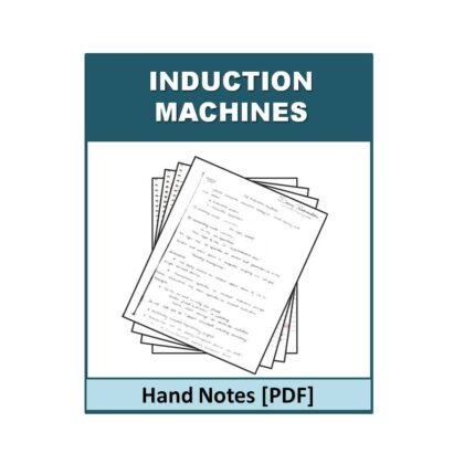 Induction Machines Free Hand Note