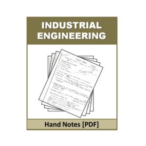 Industrial Engineering Free Handnote PDF File