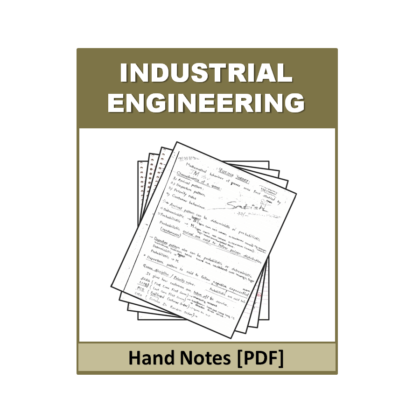 Industrial Engineering  Free Hand Note
