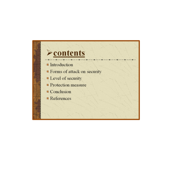 Internet Security Content PPT