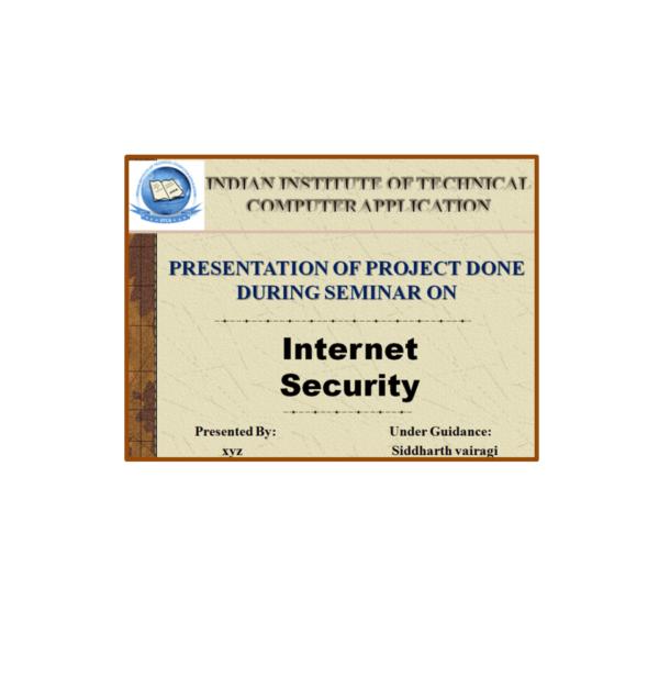 Internet Security PPT