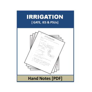 Irrigation Handnote