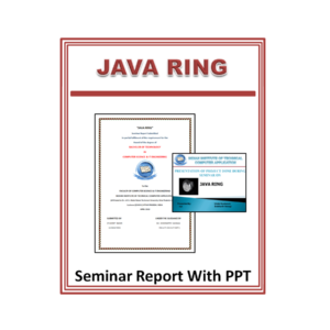 JAVA RING Seminar Report with PPT