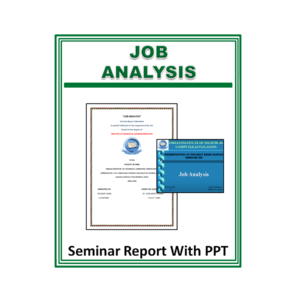 Job Analysis Seminar Report With PPT