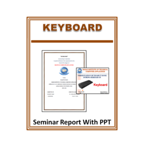 Keyboard Seminar Report With PPT