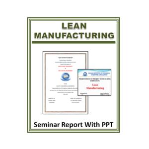 Lean Manufacturing Seminar Report with PPT