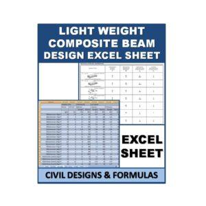 Light-weight Composite Beam Design Excel Sheet