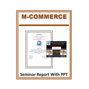 M-Commerce Seminar Report With PPT