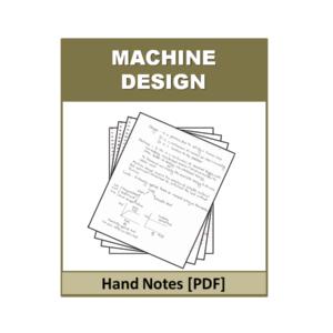 MACHINE DESIGN Handnote