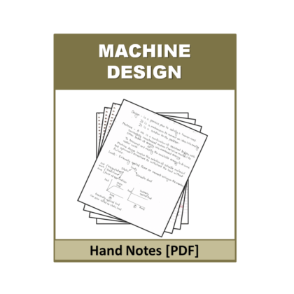 Machine Design Hand Note