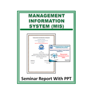 MANAGEMENT INFORMATION SYSTEM (MIS) Seminar Report With PPT