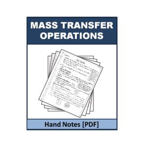 Mass Transfer Operations Handnote