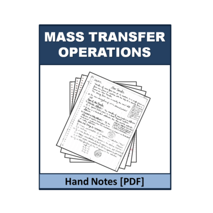 Mass Transfer Operations Hand Note