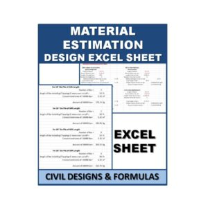 Material Estimation Design Excel Sheet