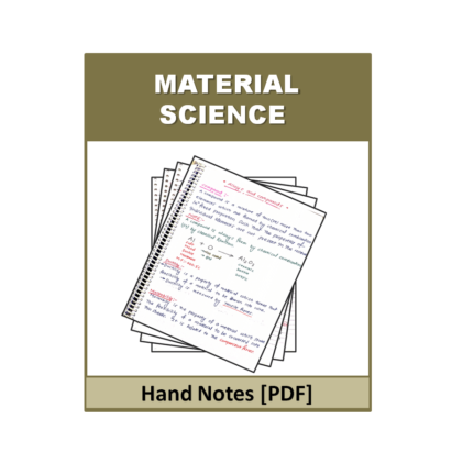 Material Science Hand Note