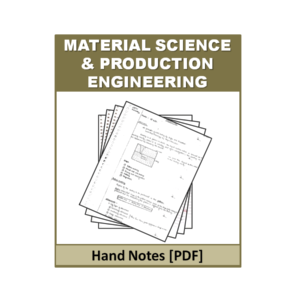 Material Science & Production Engineering Handnote