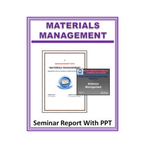 Materials Management Seminar Report With PPT