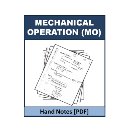 Mechanical Operation (MO) Hand Note