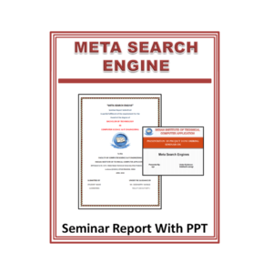 Meta Search Engine Seminar Report with PPT