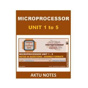 Microprocessor AKTU Note