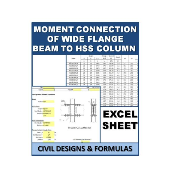 Moment Connection of Wide Flange Beam to HSS Column