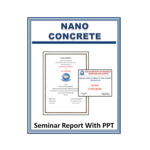 NANO CONCRETE Seminar Report With PPT