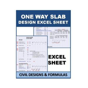 ONE WAY SLAB Design Excel Sheet
