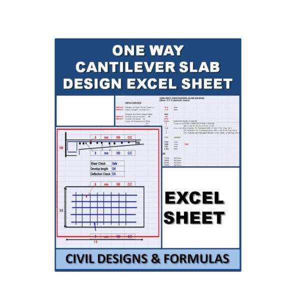 One Way Cantilever Slab Design Excel Sheet