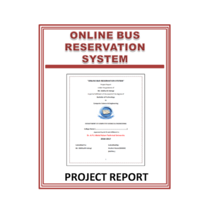 Online Bus reservation system Project Report