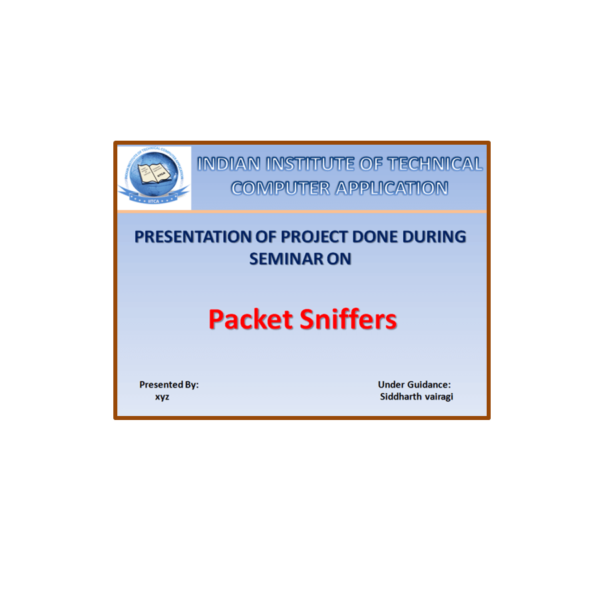 Packet Sniffers PPT