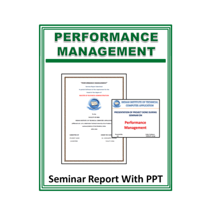 Performance Management Seminar Report with PPT