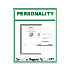 Personality Seminar Report With PPT