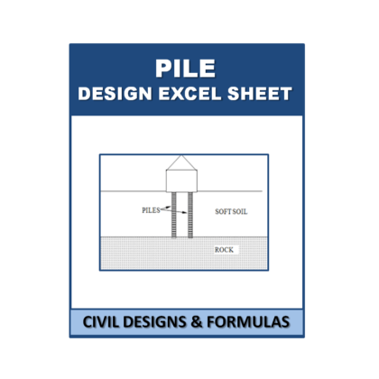 Pile design Excel Sheet with Shortcut Key's (Based on IS Code)