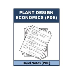 Plant Design Economics (PDE) Handnote