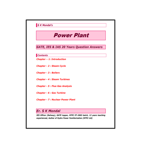 Power Plant S K Mondal Content