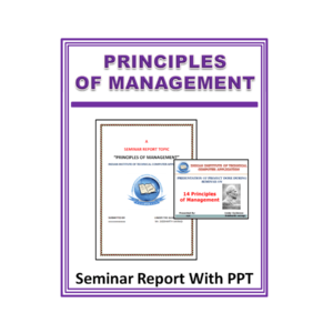 Principles of Management Seminar Report With PPT