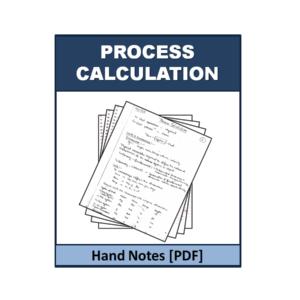 Process Calculation Handnote