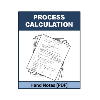 Process Calculation  Hand Note